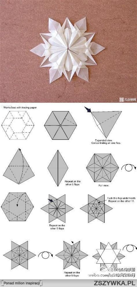 Folding Paper Snowflakes - how to fold an origami snowflake diy 蝴wi苹ta bo蠑ego