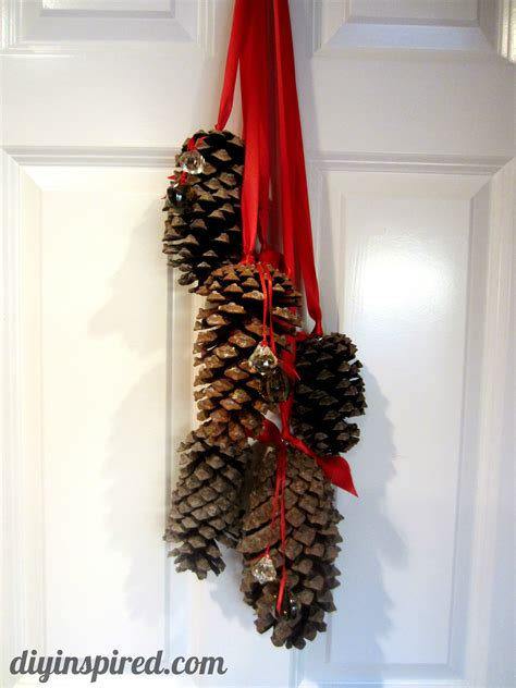 hanging pine cone decoration diy inspired - Pinecone Decorations