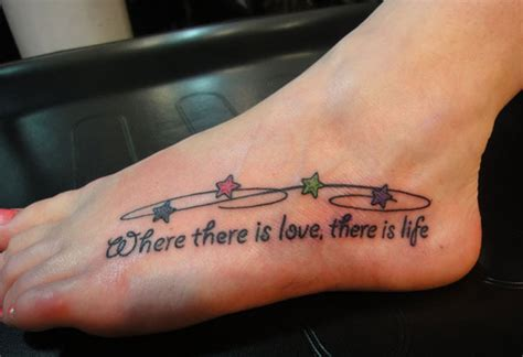 foot tattoo quotes 33 inspirational quote tattoos to consider