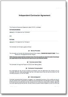 freelance contract de contract
