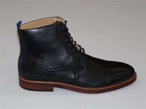 mens black leather boots handmade mens ankle high leather boots mens black