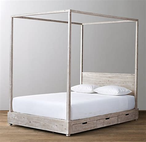 canopy bed with storage callum 3 drawer storage canopy bed