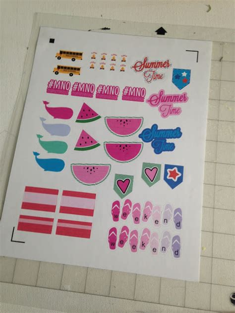silhouette printable clear sticker paper laser how to make silhouette planner stickers repositionable