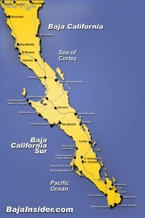 map of baja california map of california and mexico pictures to pin on pinsdaddy