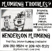 Henderson Plumbing by Idaho City Events And Information Center Business