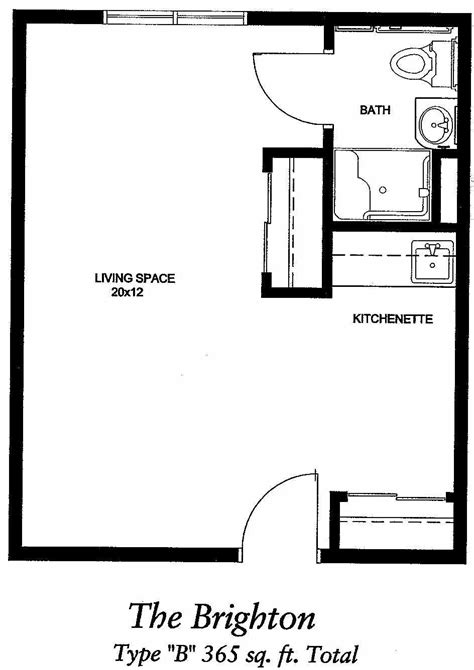 Image result for 400 sq ft apartment floor plan   Studio