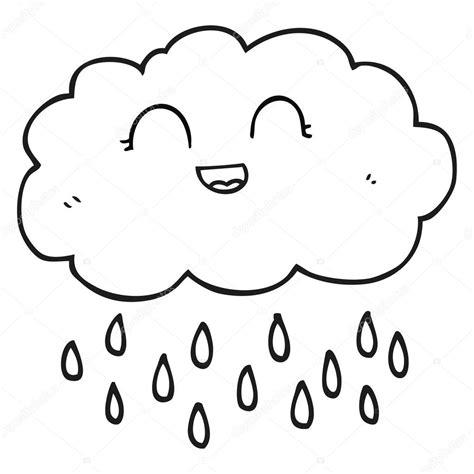 imagenes blanco y negro lluvia nube de lluvia de dibujos animados blanco y negro vector