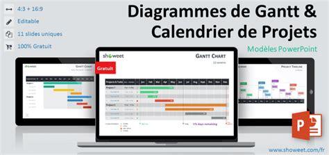 exemple de diagramme de gantt d un projet informatique diagrammes de gantt et calendrier de projets pour powerpoint