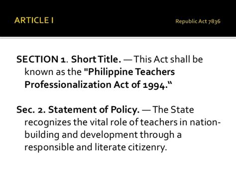 article iv section 1 meaning republic act 7836