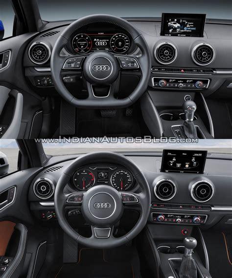Audi A3 Sedan Interior Audi A3 Sedan Facelift Vs New