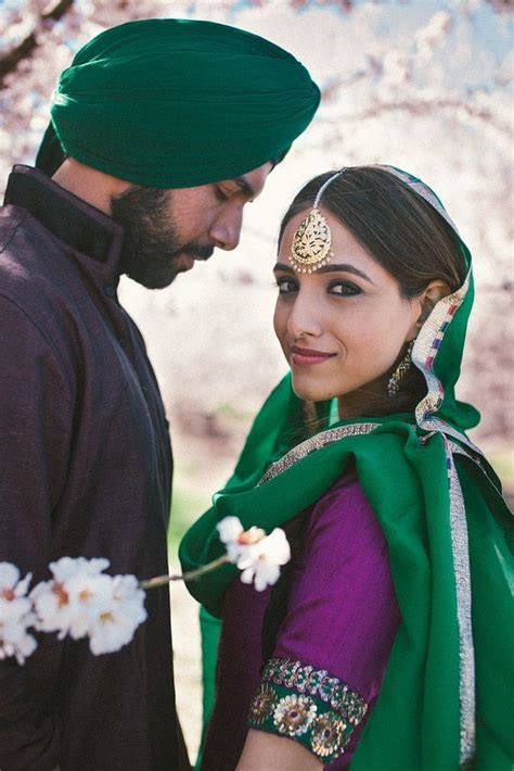 image gallery punjabi boys punjabi wedding photos girl boy bride suit green purple