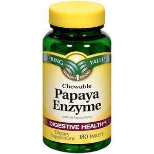 p f supplement valley papaya enzyme digestive health dietary