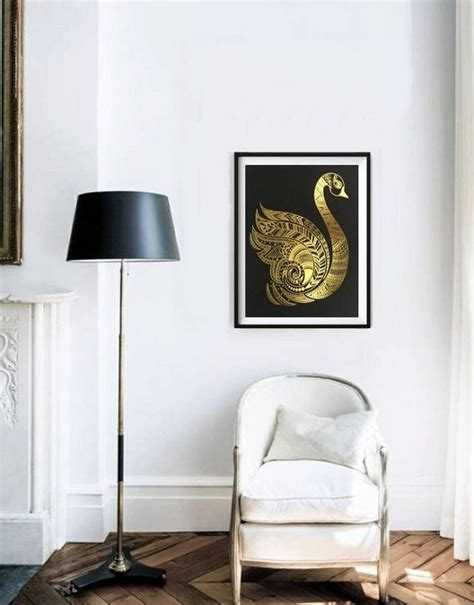 golden home decor graceful swan home decor trend homegirl london