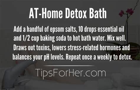 Detox Bath With Epsom Salt Baking Soda And by At Home Detox Bath Add A Handful Of Epsom Salts 10