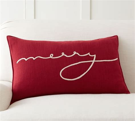 Merry Pillow by Merry Lumbar Pillow Cover Pottery Barn