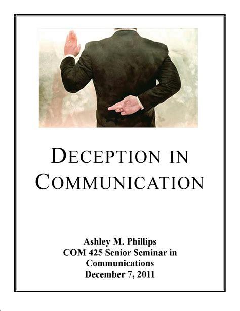 deception in communication senior seminar research paper
