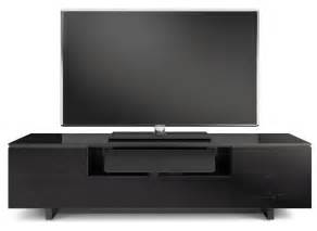 slim tv armoire bdi nora slim black gloss tv cabinet