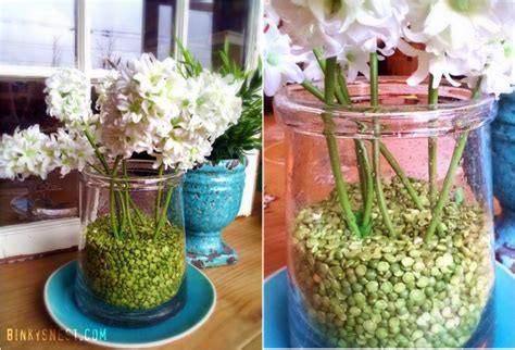 Cheap Vase Filler Ideas by Split Peas For Vase Filler Great Easter Centerpiece Idea