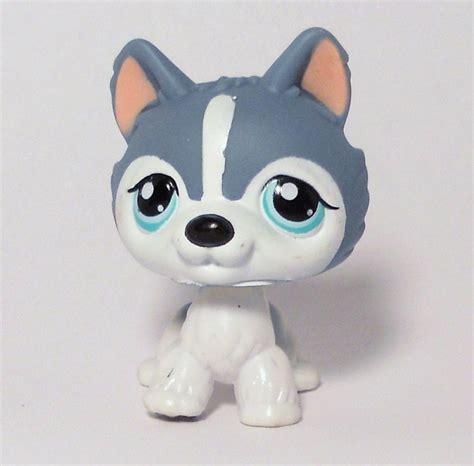 lps husky puppy littlest pet shop gray white husky no puzzle sp ed