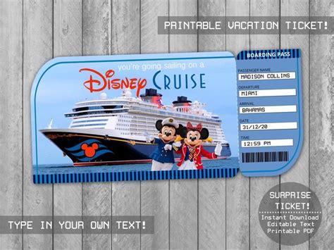 printable cruise surprise trip ticket  holidaypartystar