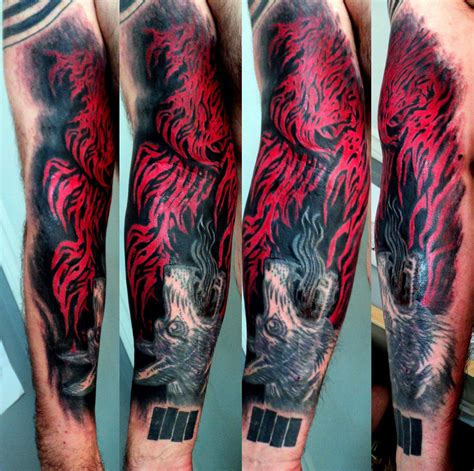 flame sleeve tattoos arm www pixshark images galleries with