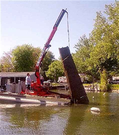 boat dock installation and removal near me barge and crane services sodus point ny