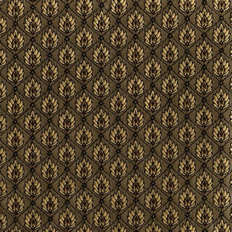 mastercraft upholstery leaf diamond mocha gold brown upholstery fabric