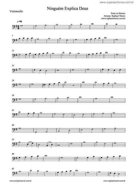 Página que contém a partitura da música Ninguém Explica