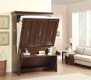 List Murphy Bed Desk Combo Natanielle Murphy Bed With Desk Walnut 2 299 99