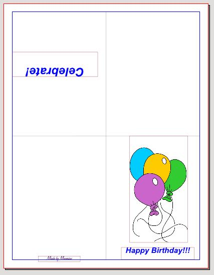 quarter fold birthday card template lovely creating your own