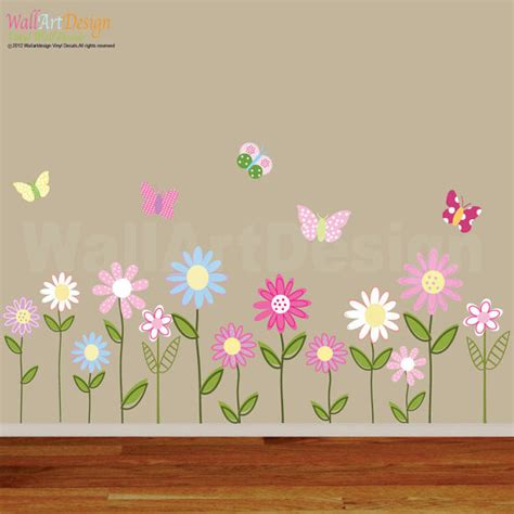 flowers and butterflies wall stickers vinyl wall decal vinyl wall decal stickers flowers
