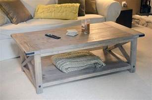 build a rustic coffee table plans rustic coffee table