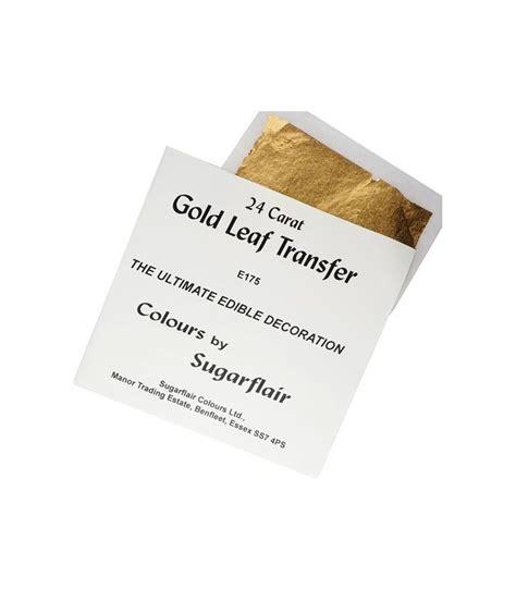Foglio Oro Alimentare foglio oro alimentare quadrato 8 x 8 cm sugarflair