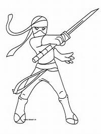 Ninjas Colouring Pages