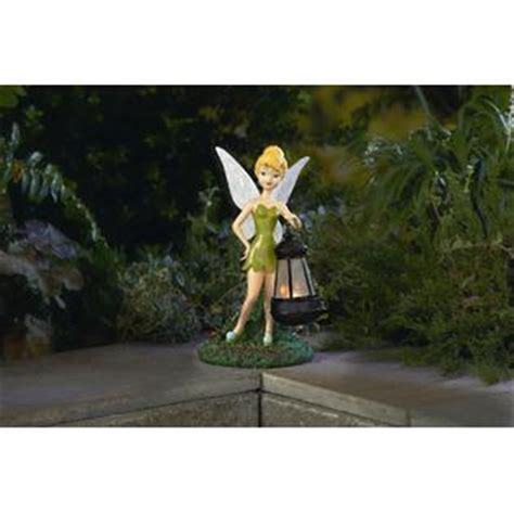 Tinkerbell Garden Decor Disney Statue With Solar Lantern Tinkerbell Outdoor Living Outdoor Decor Lawn Ornaments