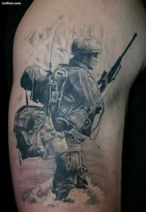 fallen soldiers tattoos designs 50 awesome army sniper design coolest army gun