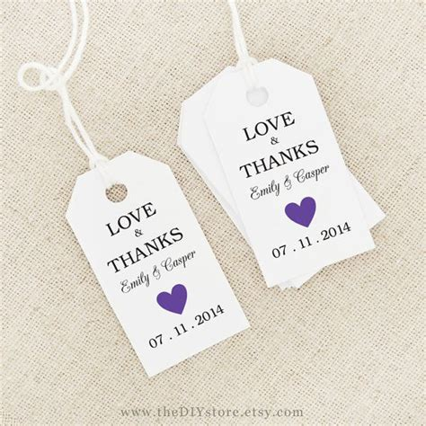 wedding favor labels template 61 best wedding thank you tags images on