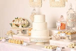 Cake And Buffet Table White Wedding Dessert Buffet The Sweetest Occasion