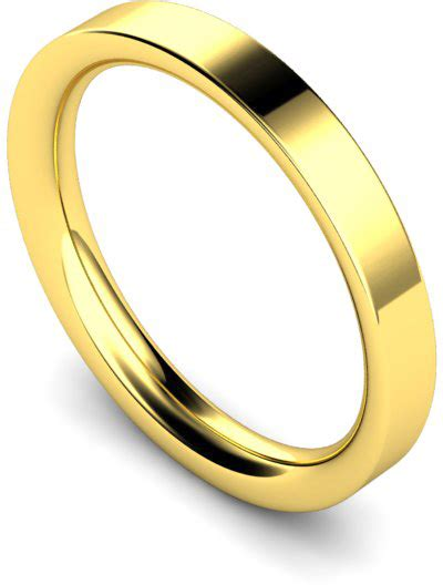 Impraboard 460 X 335 X 3mm 3mm 18ct yellow gold heavy weight flat court wedding ring