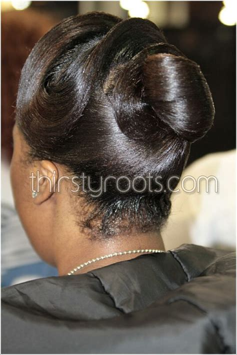 relaxed hairstyles updo  finger waves thirstyroots