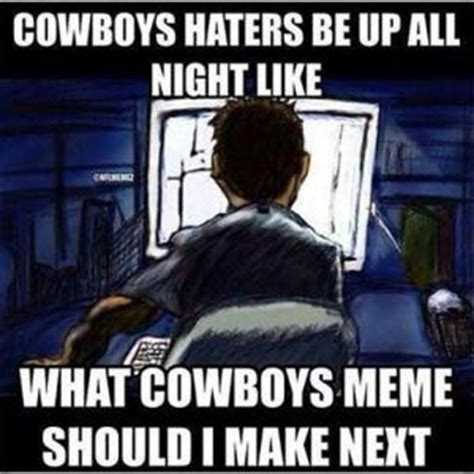 Cowboy Haters Meme - funny football jokes for kids kappit