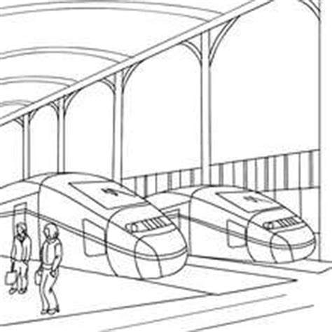 mechanic repairing a high speed train coloring pages