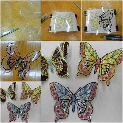 How To Make A 3d Butterfly Out Of Paper - diy plastic bottle butterflies are gorgeous plastic