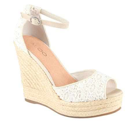 white lace wedges glorious glorious shoes