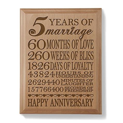 Kate Posh Th  Ee  Anniversary Ee   Engraved Natural Wood Plaque