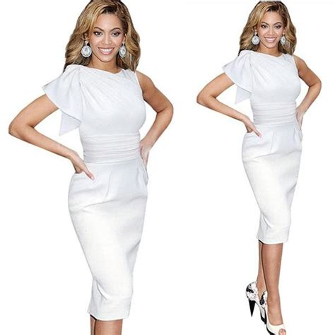 Wst 13038 Backless Pleated Dress White new vintage ruffle sleeveless bodycon dresses