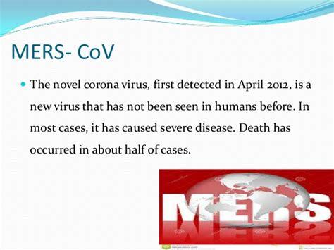 middle east respiratory syndrome corona virus mers