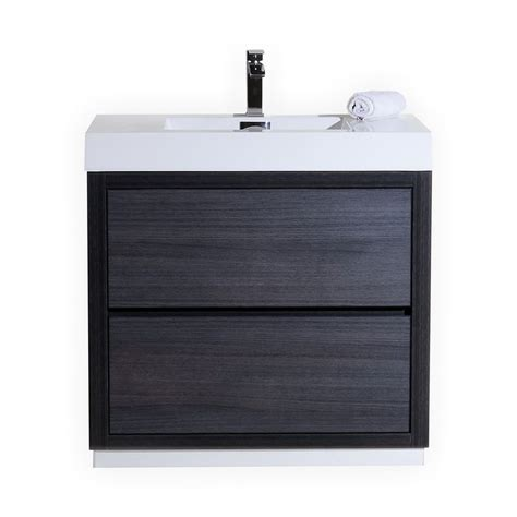 modern kitchen cabinets plastic standing water sink brizo faucet bliss 36 quot gray oak free standing modern bathroom vanity