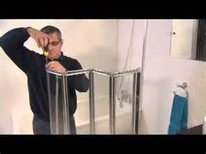 Bath Shower Door Seal aqualux aqua 4 fold bath screen video installation guide