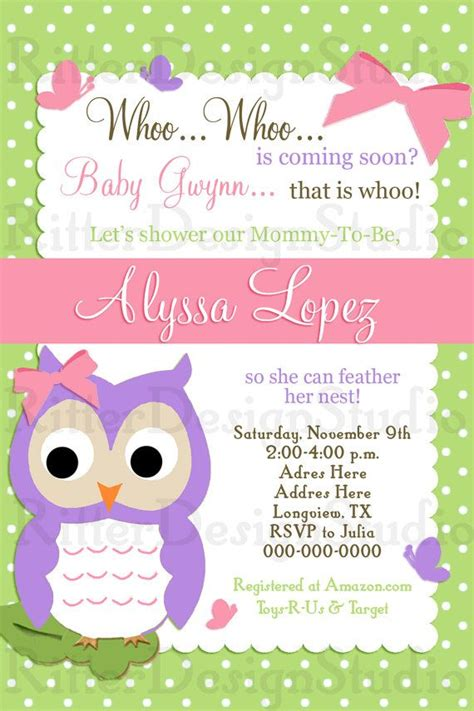 printable owl invitations free 30 best baby shower invitations images on pinterest owl